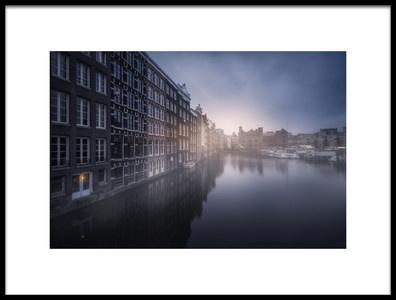 Art print titled Amsterdam Morning III by the artist Carlos F. Turienzo