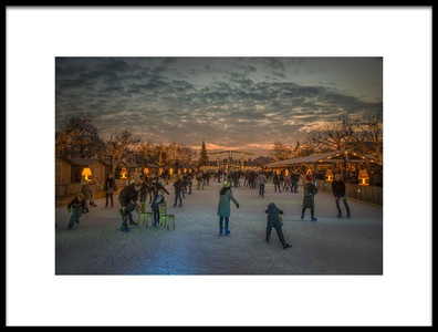 Art print titled Amsterdam Winter Wonder Land by the artist Gerrit de Groot