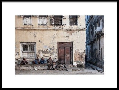 Art print titled An Evening In Stone Town by the artist Michel Guyot