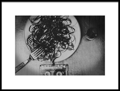 Art print titled Analog Dinner by the artist Teruhiko Tsuchida