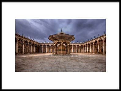 Art print titled Ancient Mosque by the artist Amr A. Rahman Mohamed