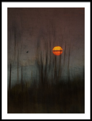 Buy this art print titled And the Moon Stood Still for the Night Bird's Song by the artist Charlaine Gerber