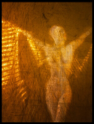 Art print titled Angel Basking In the Light by the artist Scott Michaels