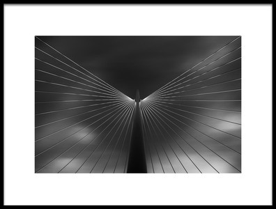 Art print titled Angel In Black and White by the artist Iván Ferrero