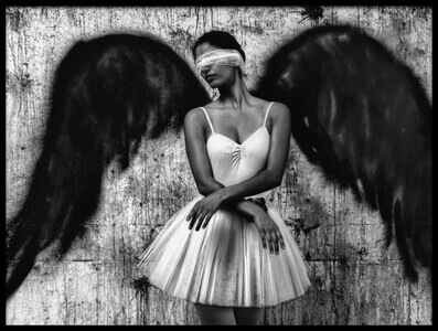 Buy this art print titled Angelic Ballerina by the artist Paulo Medeiros