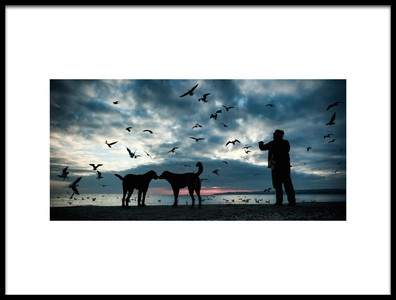 Art print titled Animal Love by the artist Melih ERSAHiN