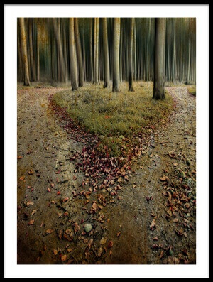 Buy this art print titled Another Lonely Heart In Haunted Woods by the artist Mario Benz