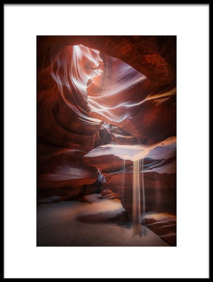 Buy this art print titled Antelope Sandfall by the artist Clara Gamito