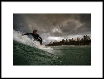 Buy this art print titled Apocalyptic Surfer by the artist Assaf Gavra