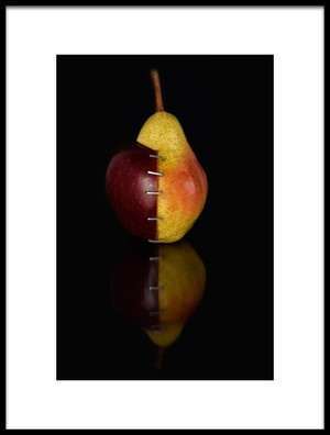 Art print titled ApplePear OGM II by the artist Alessandro Fabiano