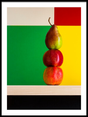 Buy this art print titled Apples and Pear by the artist Brig Barkow