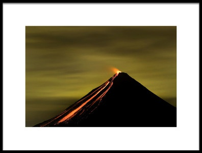 Art print titled Arenal Volcano by the artist Luis Louro
