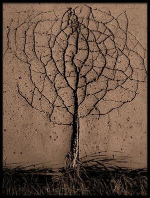 Art print titled Asphalt Tree by the artist Rasto Gallo