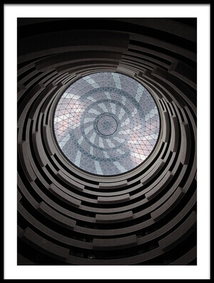 Buy this art print titled Asymmetric Spiral Beauty by the artist Jay Chandran