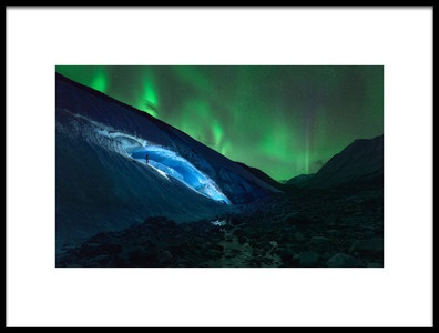 Art print titled Athabasca Ice Burning by the artist Javier de la Torre
