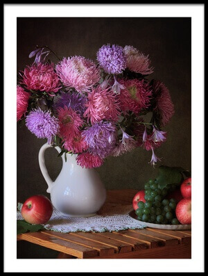 Art print titled August Gifts of the Garden by the artist Tatyana Skorokhod (Татьяна Скороход)
