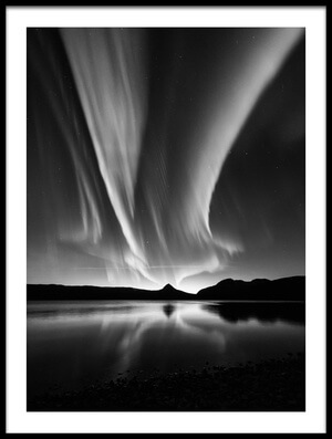 Buy this art print titled Aurora In B&W by the artist Kolbein Svensson