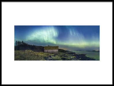 Art print titled Aurora Panorama by the artist Christer Olsen