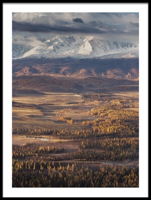 Art print titled Autumn Altai Mountains by the artist Dmitry Kupratsevich