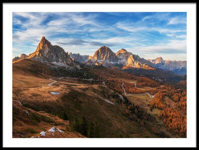 Art print titled Autumn In Dolomites by the artist Ales Krivec