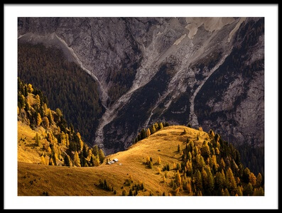 Art print titled Autumn In the Dolomites by the artist Uschi Hermann