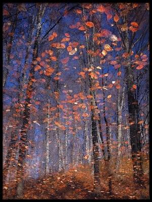 Art print titled Autumn Leaves by the artist Florentin Vinogradof