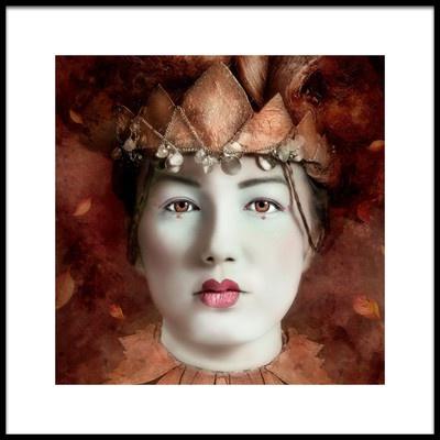Art print titled Autumn Queen by the artist Joan Blease