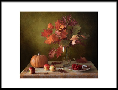 Art print titled Autumn Still Life by the artist Tatyana Skorokhod (Татьяна Скороход)