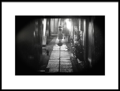 Art print titled Back Street by the artist Teruhiko Tsuchida