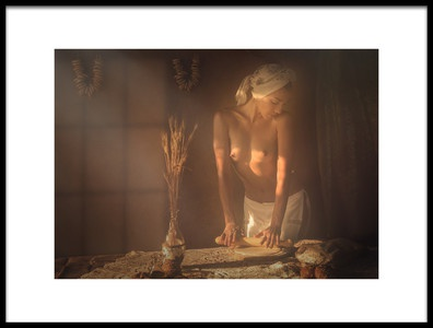 Art print titled Baker by the artist Evgeny Loza