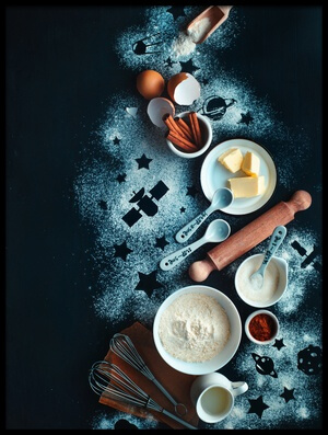 Buy this art print titled Baking for Stargazers by the artist Dina Belenko