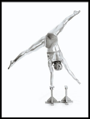 Art print titled Balance - Gymnastics Series by the artist Howard Ashton-Jones