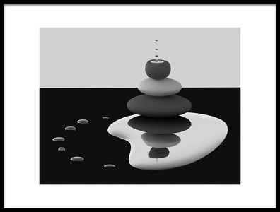 Art print titled Balanced Drops by the artist Antonyus Bunjamin (Abe)