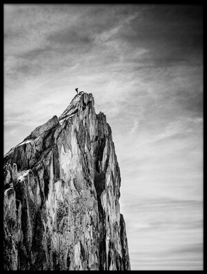Art print titled Balancing Between Earth and Sky by the artist Thomas Vuillaume