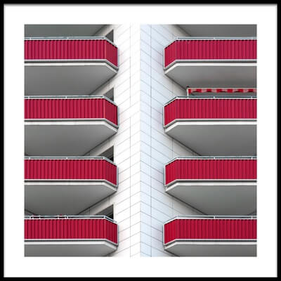 Buy this art print titled Balconies by the artist Rolf Endermann