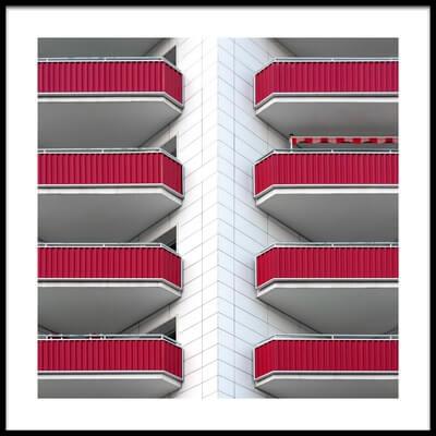 Art print titled Balconies by the artist Rolf Endermann