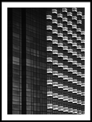 Buy this art print titled Balconies On Wilshire Boulevard by the artist Roxana Labagnara