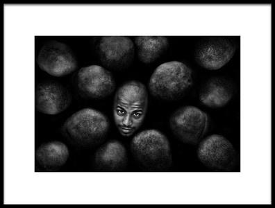 Art print titled Bald by the artist Aziz Albagshi