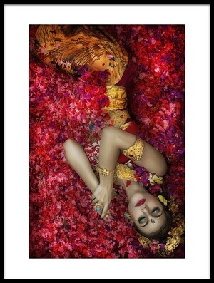 Buy this art print titled Balinese Woman Among the Flowers by the artist Taman Tan