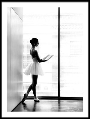 Buy this art print titled Ballerina and Book by the artist Paulo Medeiros