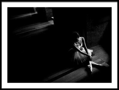 Buy this art print titled Ballerina Waiting by the artist Paulo Medeiros