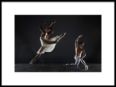 Art print titled Ballet Scene by the artist Libby Zhang