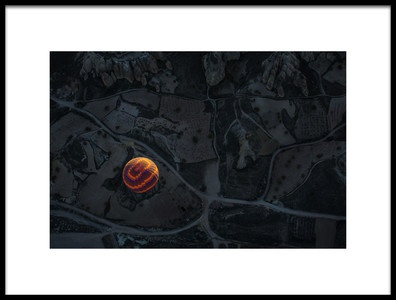 Buy this art print titled Balloon Over Cappadocia by the artist Dan Mirica