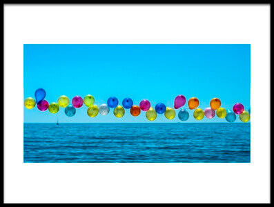 Art print titled Balloons by the artist Levent_ist
