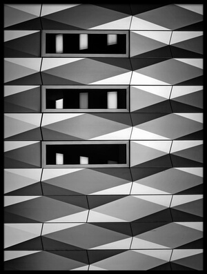 Buy this art print titled B&W Facade by the artist Henk van Maastricht