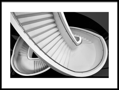 Art print titled B&W Staircase by the artist Henk van Maastricht