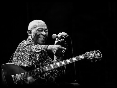 Art print titled BB King by the artist Alice Lorenzini