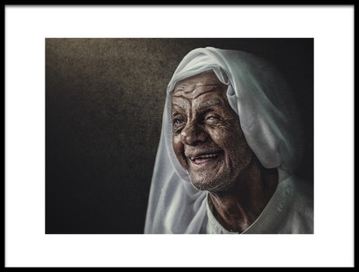 Art print titled Be Happy by the artist Husain ALSaeed