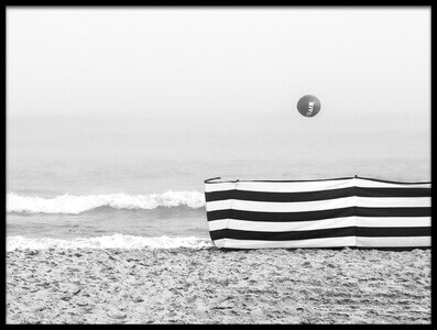 Art print titled Beach Ball by the artist Anna Niemiec