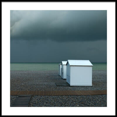 Art print titled Beachhouses by the artist Elisabeth Wehrmann